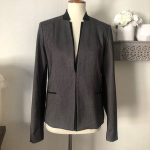 T Tahari Colorblock modern blazer Grey black sz 8
